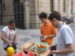 street vendors: fruit